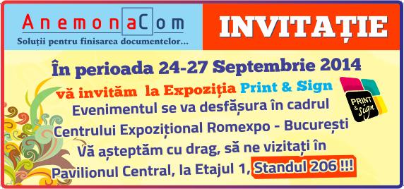 Anemona Com va invita la Print & Sign 2014!