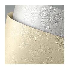 Carton doar pentru tipar laser FLORAL, crem, format A4, 220g/mp