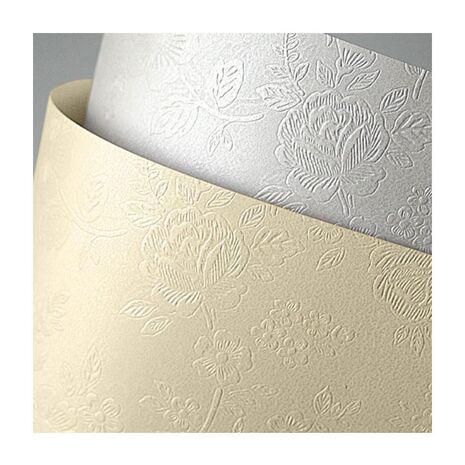 Carton doar pentru tipar laser FLORAL, alb, format A4, 220g/mp