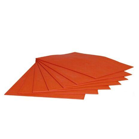 Placa din cauciuc portocaliu, pentru productia de amprente stampile prin gravare laser